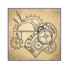 Steampunk Gear Heart Steampunk Gears Steampunk Heart Vinyl