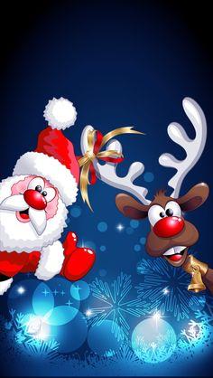 Ideas Christmas Wallpaper Santa Natal For 2019 Wallpaper Natal, Christmas Phone Wallpaper, Holiday Wallpaper, Winter Wallpaper, Wallpaper Wallpapers, Wallpaper Ideas, Iphone Wallpapers, Christmas Drawing, Christmas Paintings