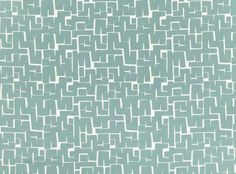 'Vence Verdigris' 100% katoen geschikt voor gordijnen en meubels - Villa Nova.   An all over single colour geometric with fluid, simple shapes, printed on a twill cotton which adds to the contemporary feel of the design. Contemporary Print Upholstery Fabrics, Prints, Drapes & Wallcoverings