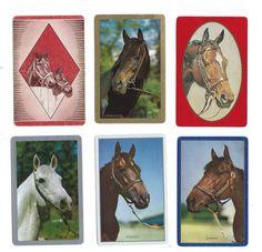 RUN RU-1-1 2 Single VINTAGE Swap//Playing Cards USNN HUNT HORSES /'MEET ME-1-1