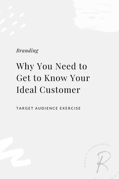 Why You Need a DEEPER Understanding of your Ideal Customer   Target Audience / Branding Exercise   byRosanna   #brandingtips #targetcustomerprofiling #marketingtips #idealcustomer Creative Business, Business Tips, Cv Template, Templates, Getting To Know You, How To Get, Target Customer, Target Audience, Understanding Yourself
