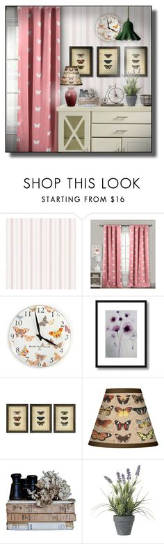 """""""Butterflies"""" by sally-simpson ❤ liked on Polyvore featuring interior, interiors, interior design, home, home decor, interior decorating, Lala + Bash, MacKenzie-Childs, WALL and Giclee Glow"""