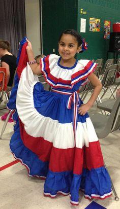 Dominican Republic Folkloric attire for dancing Merengue Típico