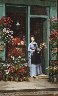Pintura: Mulheres e flores–Galeria 25