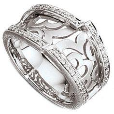 Damen Ring 585 Gold Weißgold   44 Diamanten Brillanten 0,22ct. A50278 56