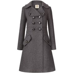 Orla Kiely Heavy Wool Trench Coat found on Polyvore