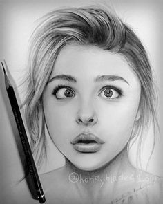 Pencil Portrait Wonderful pencil drawing works by Honey Blade Amazing Drawings, Realistic Drawings, Beautiful Drawings, Pencil Art Drawings, My Drawings, Art Sketches, Pencil Portrait, Portrait Art, Portraits