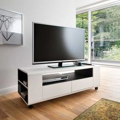 TV Unterschrank mit Rollen Weiß Anthrazit Jetzt bestellen unter: https://moebel.ladendirekt.de/wohnzimmer/tv-hifi-moebel/tv-lowboards/?uid=5c3834e9-afdb-5d47-935d-e9a7d16f3582&utm_source=pinterest&utm_medium=pin&utm_campaign=boards #fernsehboard #rack #phonoschrank #tvboard #fernsehunterschrank #tische #tvhifimoebel #lowboard #fernsehtisch #unterschrank #möbel #fernsehkommode #phonomöbel #bank #tvtische #fern #sideboard #tvlowboards #wohnzimmer #kommode #board