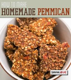survival food, pemmican, homemade pemmican, pemmican recipe