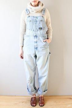 vintage 90s denim overalls by kaihovintage on Etsy
