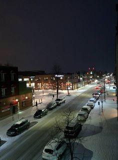 Shawinigan le soir de Janvier !! January, City