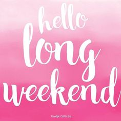 Happy long weekend everyone! Enjoy your extra day off to relax! Happy long weekend everyone! Enjoy your extra day off to relax! Long Weekend Quotes, Happy Weekend Quotes, Weekend Humor, Its Friday Quotes, Happy Friday, Friday Funnies, Funny Weekend, Funny Friday, Work Funnies