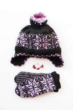 Unisexwinter wool hatknitted accessoriesknitpurple by JolantaKnit
