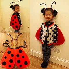 My little ladybird #worldbookday #whattheladybirdheard #diy #ladybird #costume #kidsdressup #upcycle