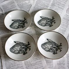 Eat your Heart out Ironstone bowls by geekdetails on Etsy, $30.00