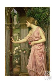 Psyche Entering Cupid's Garden, 1903 Giclee Print by John William Waterhouse at Art.com