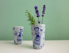 ❤ zauberhafte Stavangerflint Norway Vintage Vase   von ILoveSparrows auf DaWanda.com