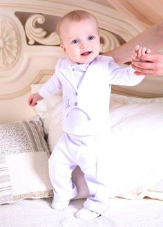 Baby boy Christening outfit Boy baptism outfit by HandmadeStoreTS Baby Boy Suit, Baby Boy Shoes, Baby Boys, Toddler Outfits, Baby Boy Outfits, White Wedding Suit, White Weddings, Baby Boy Christening Outfit, Kid Outfits