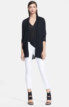 Business Chic Cardigans: What To Wear In A Freezing Office When It's Hot Outside!  Helmut Lang Jersey Cardigan