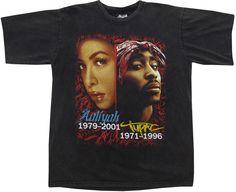 Image of Vintage Tupac & Aaliyah T Shirt Size XL