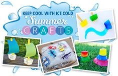 Fun Summer Ice Cube Crafts For Kids ~ Ice Cube Sail Boats and Ice Cube Water Color Paints. Easy and cool!