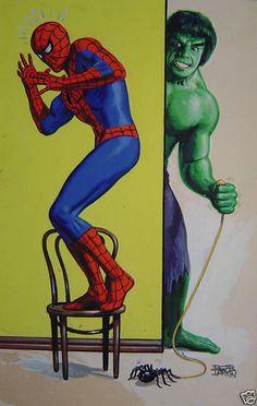 Spider-Man & Hulk by Bob Larkin