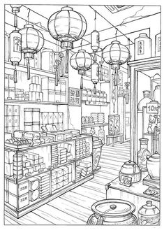 Detailed Coloring Pages, Fall Coloring Pages, Coloring Sheets, Coloring Books, Printable Adult Coloring Pages, Scrapbook Sketches, Colorful Drawings, Line Drawing, Line Art