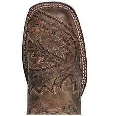 "Dan Post Cowboy Certified Womens Tan Leather Sidecar 12"""" Sq Toe Boots"