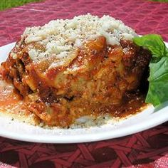 ... Food- Pasta on Pinterest | Meat lasagna, Easy spinach lasagna and