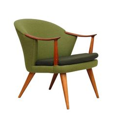 Per Langlo Norwegian Reupholstered teak Mid Century Armchair, Norway, Teak, Modern Furniture, 1950s, Accent Chairs, Upholstery, Woodworking, Wool