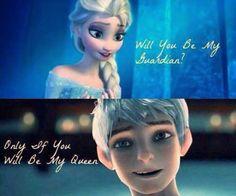 «jack frost, elsa, and jelsa Jelsa, Elsa E Jack, Jack Frost And Elsa, Disney And Dreamworks, Disney Pixar, Disney Characters, Disney Ships, Crossover, Frozen Love