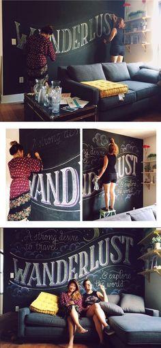 23 fabulosas ideas para decorar paredes con letras ¡buenísimas!  #decoración #paredes #diy #manualidades #creatividad