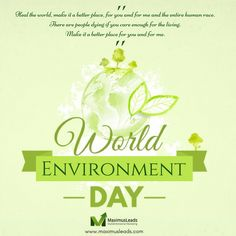 Keep your World Clean and Green, Save Trees, Save the environment! Happy #WorldEnvironmentDay !!!