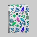 Pretty Blue and Pink Leaves and Flowers Pattern caseable cases