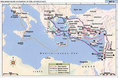 Apostle Paul Journey Map | The Missionary Journeys of the Apostle Paul