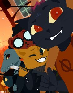 Man, i love night in the woods! Angus' my favorite NITW - Smile for the camera Mae Borowski, Little Misfortune, Night In The Wood, Wood Games, Chibi, Horror, Furry Art, Wood Art, Cute Art