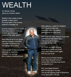 Wealth is... [Click to listen.]