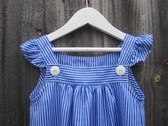 sewpony: kcwc: Day four - Blue stripey dress