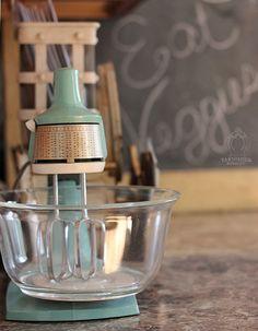 Vintage GE mixer in my farmhouse kitchen