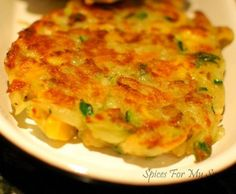 Vege Fritters for the kids