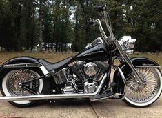 Nice softail, lowered, apehangers, 21front tire
