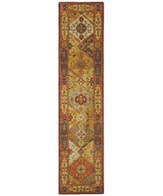 Indulge yourself in the look and feel of brilliance with the Heritage Diamond Bakhtiara design rug collection Runner rug made of 100-percent wool pile Floor decor features a traditional motif with beautiful diamond patterns
