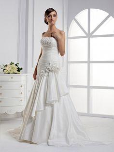 Gorgeous sweetheart trumpet/mermaid chapel train bridal gowns