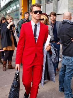 Is there a chance I will one day see my son in this all-red suit?