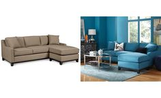 Keegan Fabric 2 Piece Sectional Sofa: Custom Colors - Couches & Sofas - Furniture - Macy's