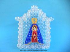 Oratório Nossa Senhora Aparecida.  Um jeitinho delicado de reverenciar e decoração.  http://www.elo7.com.br/oratorio-nossa-senhora-aparecida/dp/4243FF