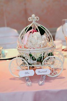 THE ORIGINAL Inspired By Disneys Fairytale Wedding Cinderellas Carriage Coah Pumpkin Table Centerpiece
