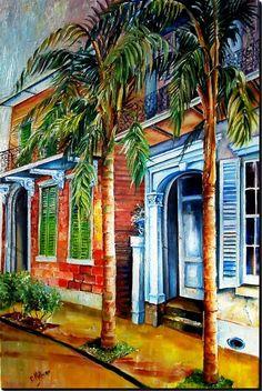 Esplanade Avenue in New Orleans- Painting by Diane Millsap.  To see more of her art visit www.neworleans-art.net