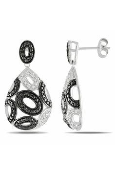 0.25Ct Diamond Earrings In Silver - Beyond the Rack