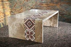 modern furniture made of stone